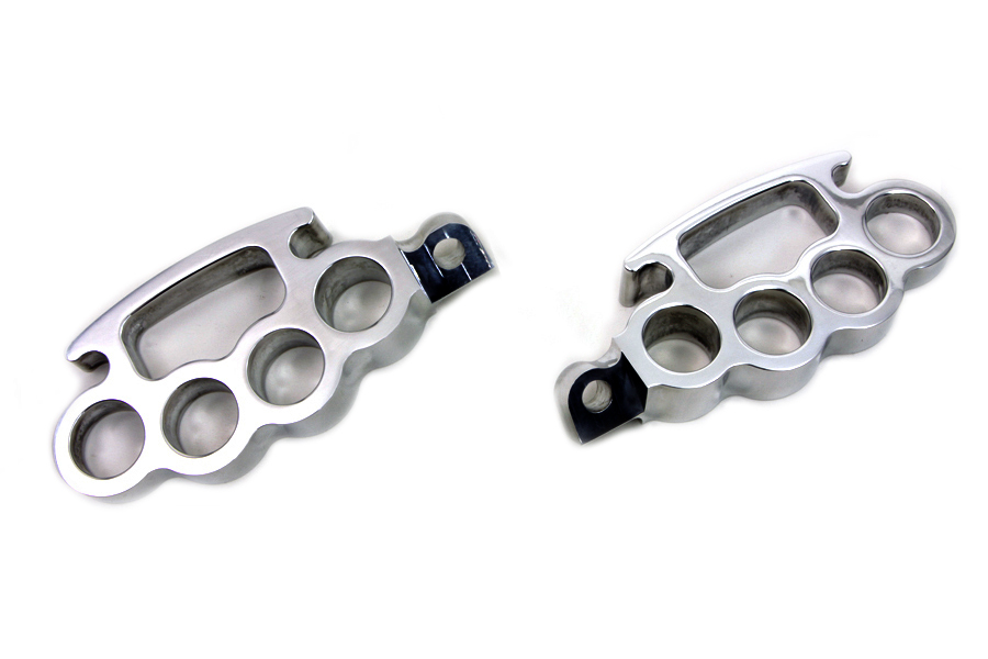 V-Twin 27-1207 - Polished Knuckle Footpeg Set