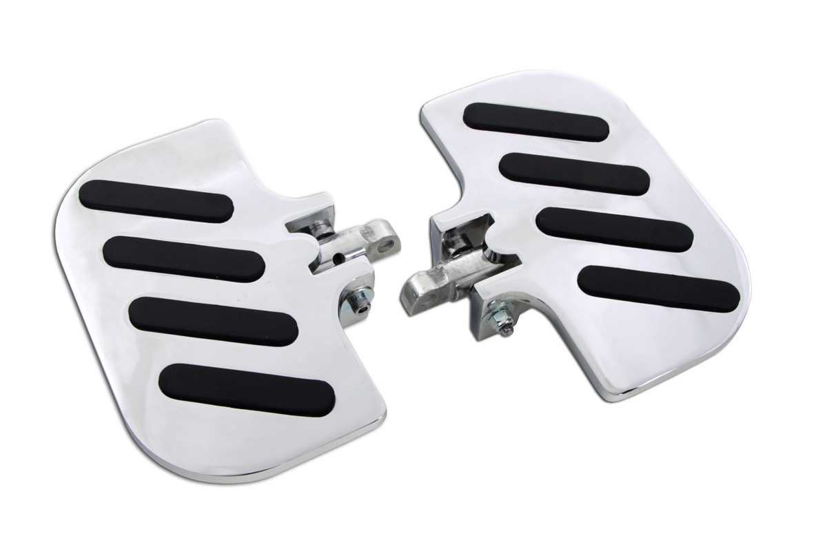 V-Twin 27-1239 - Chrome Slot Inverted Passenger Footboard Set