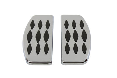 V-Twin 27-1251 - Driver Footboard Set with Diamond Design