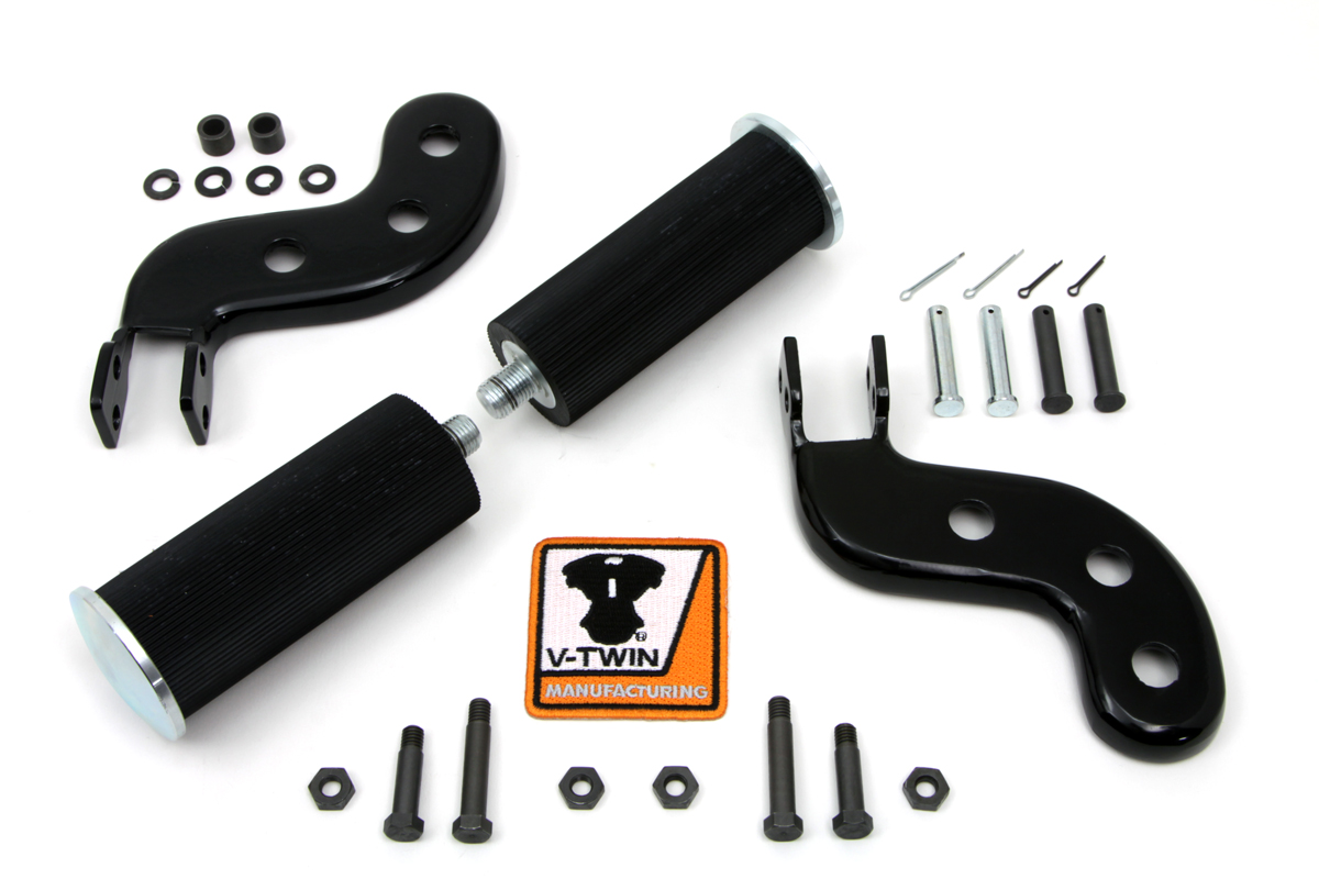 V-Twin 27-1252 - Buddy Seat Footpeg Set Black