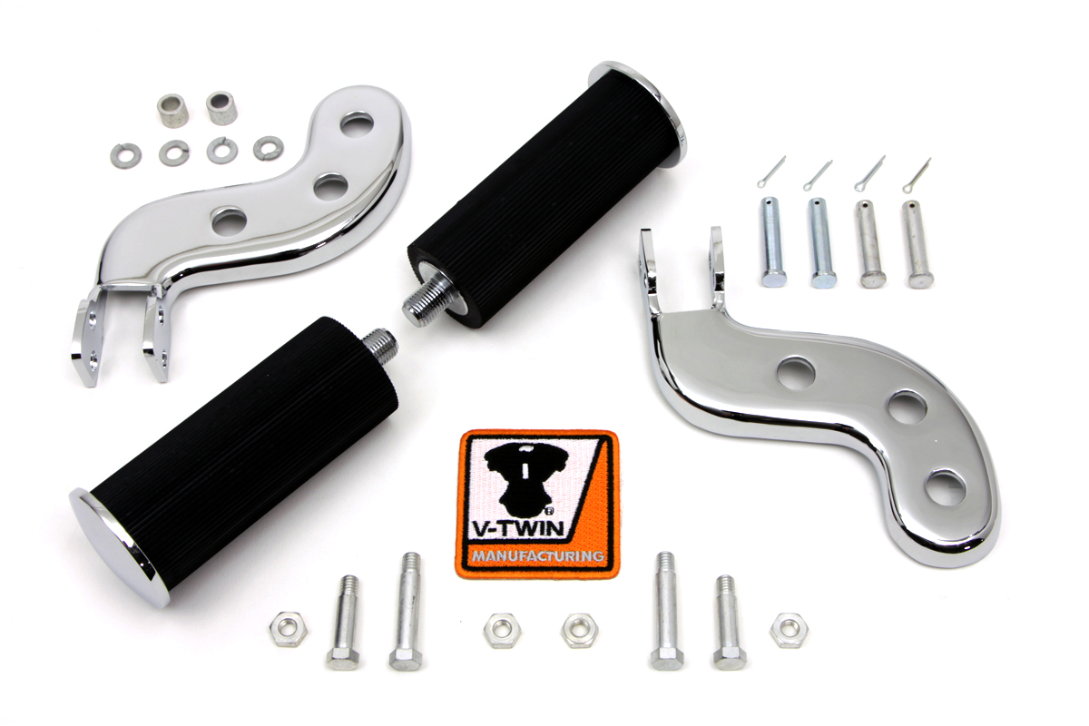V-Twin 27-1253 - Buddy Seat Footpeg Set Chrome
