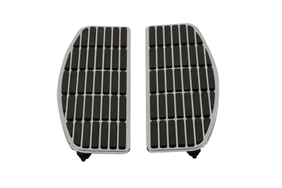 V-Twin 27-1705 - Footboard Mat Set Chrome