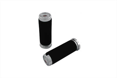 V-Twin 28-0125 - Foam Style Grip Set with Embossed End Cap