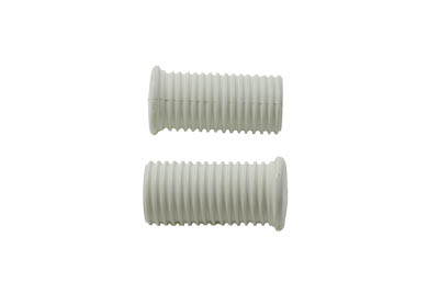 V-Twin 28-0202 - Driver Footpeg Rubber Set White
