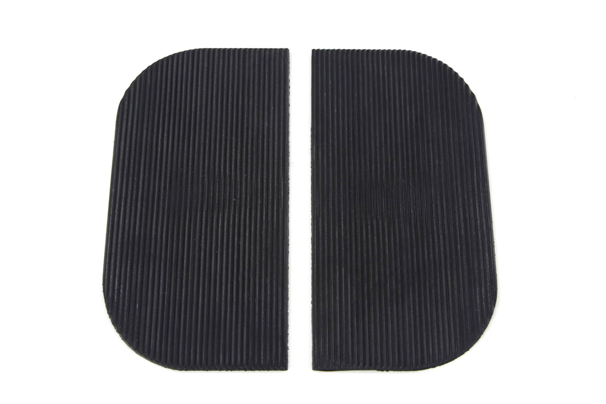 V-Twin 28-0613 - Mini Footboard Mat Set Black Rubber