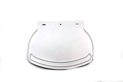 V-Twin 28-0702 - Mud Flap Rubber White Plain