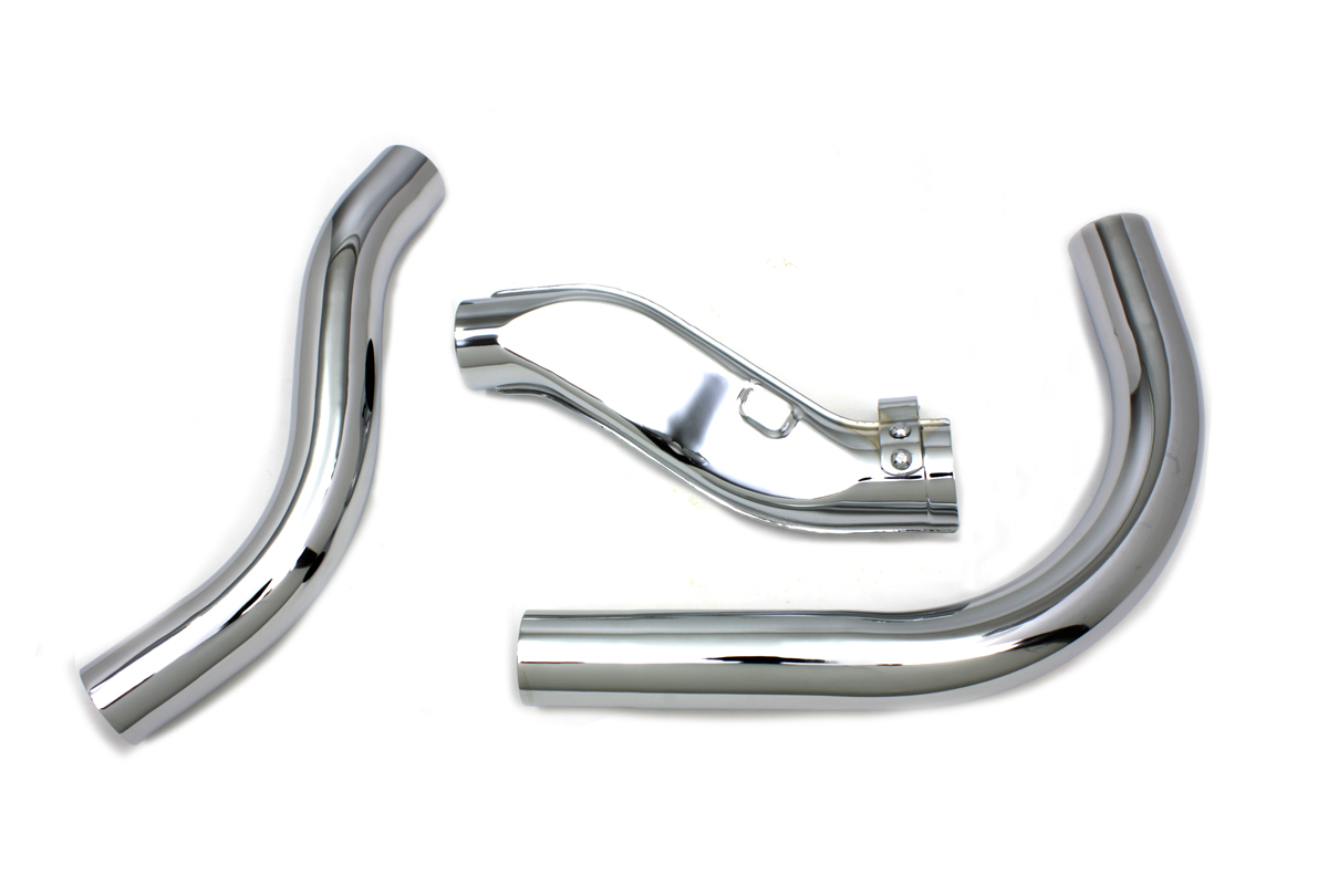 KNUCKLEHEAD EXHAUST HEADER SET, CHROME VTWIN 29-0182