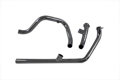 V-Twin 29-1101 - Dual Crossover Chrome Exhaust System