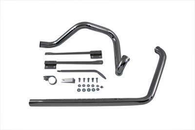 V-Twin 29-1169 - True Dual Exhaust Pipe System Chrome