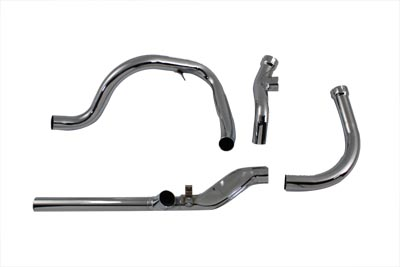 V-Twin 29-1188 - Replica Dual Crossover Chrome Exhaust System