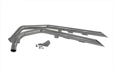 V-Twin 30-0071 - Exhaust Drag Pipe Set Slash Cut