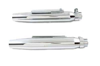 V-Twin 30-0148 - Tapered Slip on Muffler Set