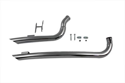 V-Twin 30-0295 - Exhaust Drag Pipe Set Curved
