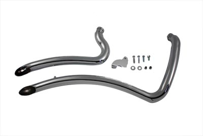 V-Twin 30-0320 - Exhaust Drag Pipe Set Curve