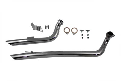 V-Twin 30-0331 - Exhaust Drag Pipe Set Curved