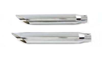 V-Twin 30-0348 - Baloney Slice Slip on Muffler Set