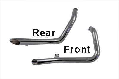 V-Twin 30-0385 - Exhaust Drag Pipe Set Side Slash Style