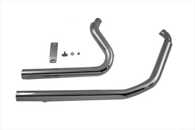 V-Twin 30-0551 - Exhaust Drag Pipe Set Straight Cut