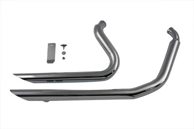 V-Twin 30-0556 - Exhaust Drag Pipe Set Side Cut