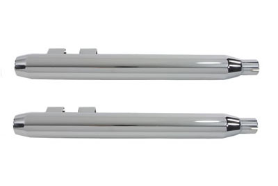 V-Twin 30-0634 - Chrome Muffler Set With Chrome Hollow Point End