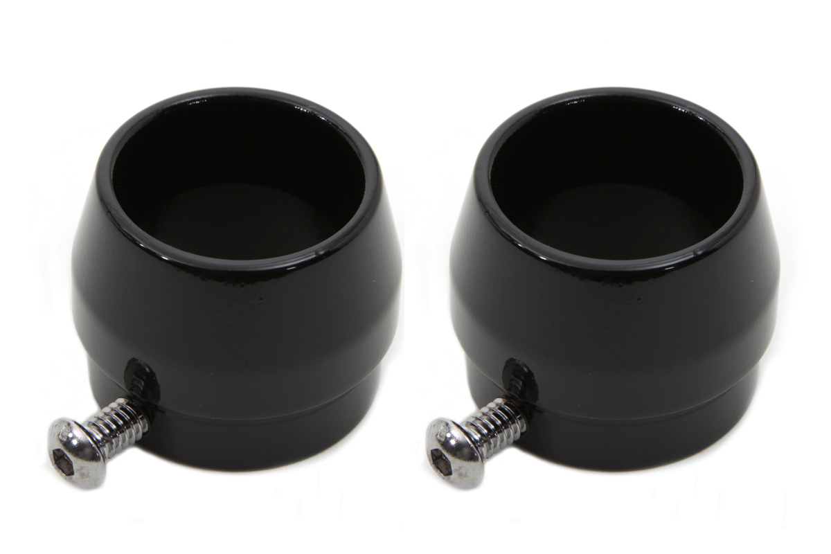 V-Twin 30-0800 - Black Tips for 1-3/4 Straight Pipe Exhausts