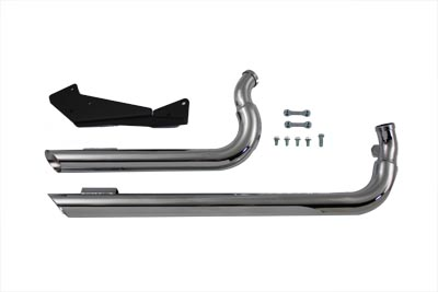 V-Twin 30-0987 - Exhaust Drag Pipe Set Slash Cut