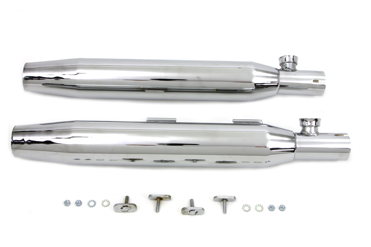 V-Twin 30-1284 - Chrome Slip On Muffler Set