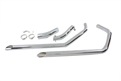 V-Twin 30-3006 - Exhaust Drag Pipe Set Slash Cut Ends