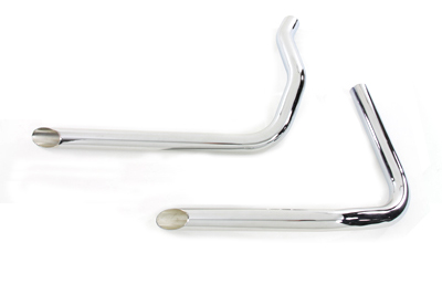 V-Twin 30-3120 - Exhaust Drag Pipe Set Slash Cut
