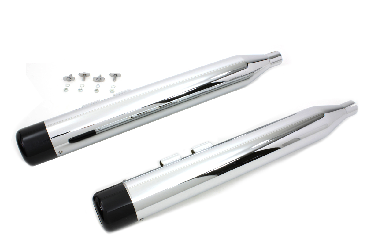 V-Twin 30-3183 - Muffler Set with Black Hollow Point End Tips