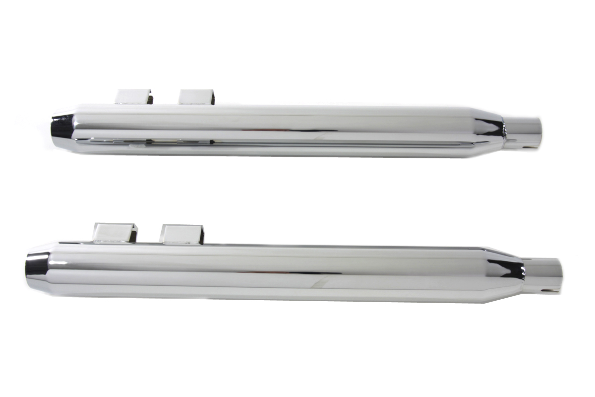 V-Twin 30-3184 - Muffler Set With Chrome Short Tapered End Tips