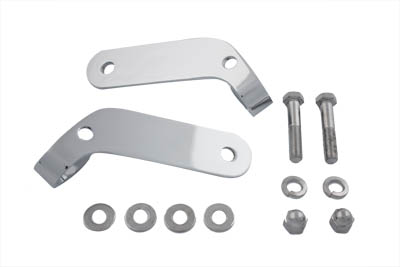 V-Twin 31-0185 - Chrome Universal Spotlamp Bracket Set