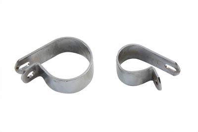 V-Twin 31-0229 - Front Exhaust Chrome Clamp Set