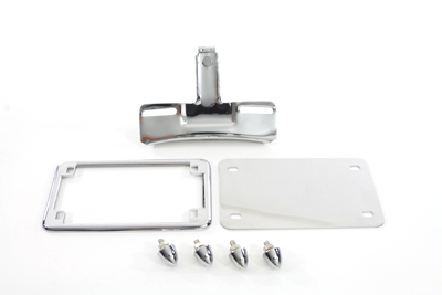 V-Twin 31-0271 - License Plate Frame Bracket Kit Chrome