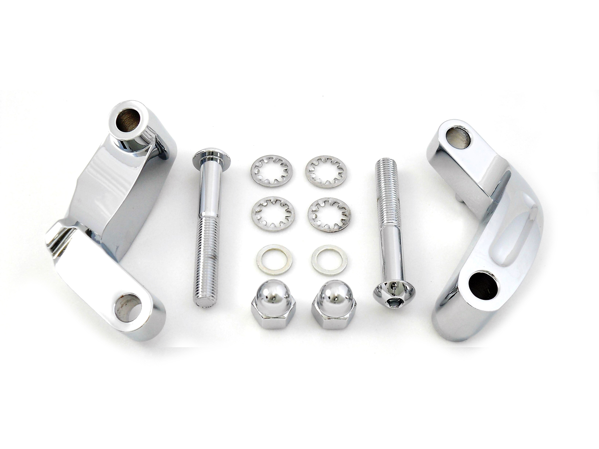 SMOOTH MIRROR RELOCATION KIT, CHROME VTWIN 31-0392
