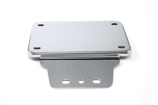 V-Twin 31-0605 - Tail Lamp License Plate Holder Chrome