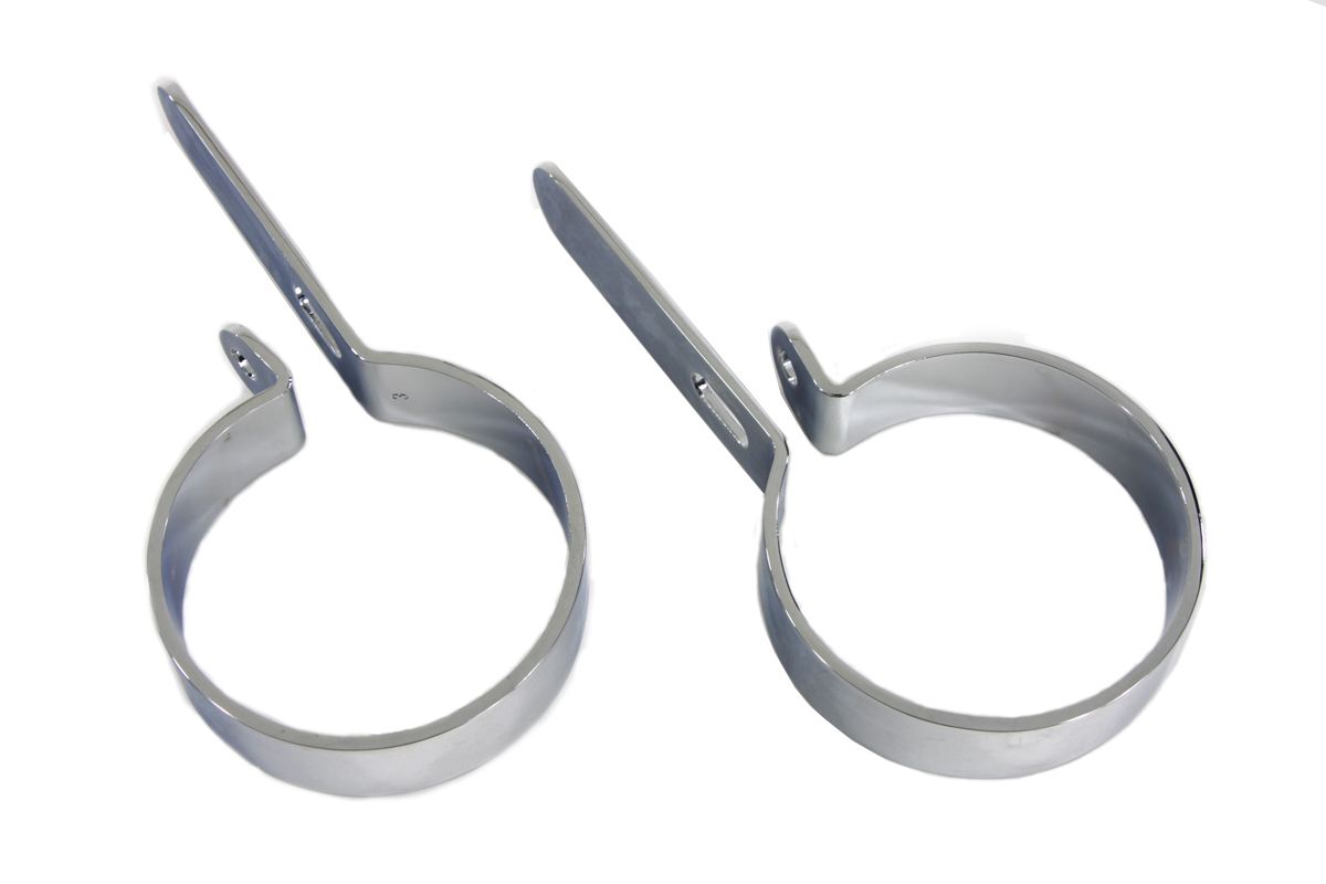 "V-Twin 31-2108 - Chrome 3"" Exhaust Hanger Clamp set"