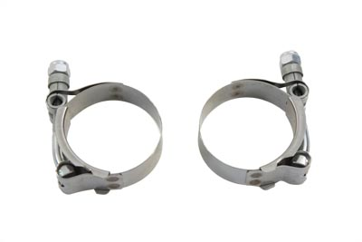 V-Twin 31-2110 - Exhaust Clamp Set Stainless Steel