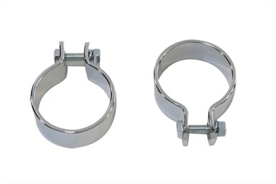 "V-Twin 31-2132 - Chrome 1-3/4"" Pipe Clamp Set"