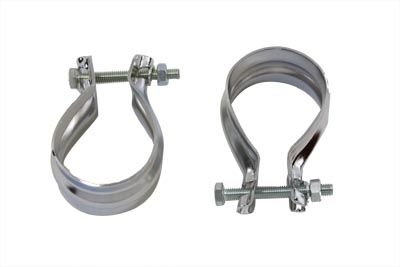 V-Twin 31-2136 - Muffler End Clamp Set Stainless