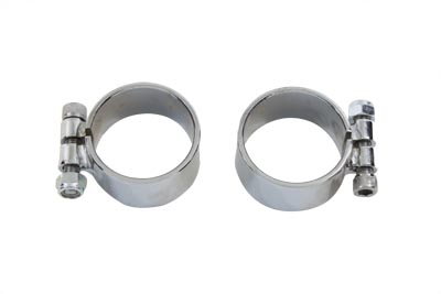 V-Twin 31-3942 - Exhaust Clamp Set Chrome Extra Wide