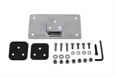 V-Twin 31-3943 - License Plate Frame Bracket Kit Chrome