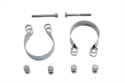 V-Twin 31-4039 - Chrome Allen Type Exhaust Clamp Set