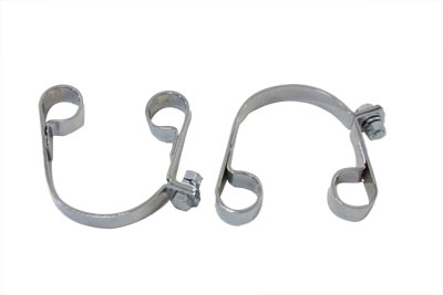 V-Twin 31-9976 - Chrome Muffler Body Clamp Set