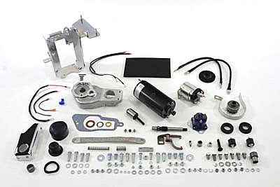 V-Twin 32-0002 - Prestolite Black Electric Starter Kit