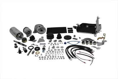 V-Twin 32-0013 - Prestolite Chrome Electric Starter Kit