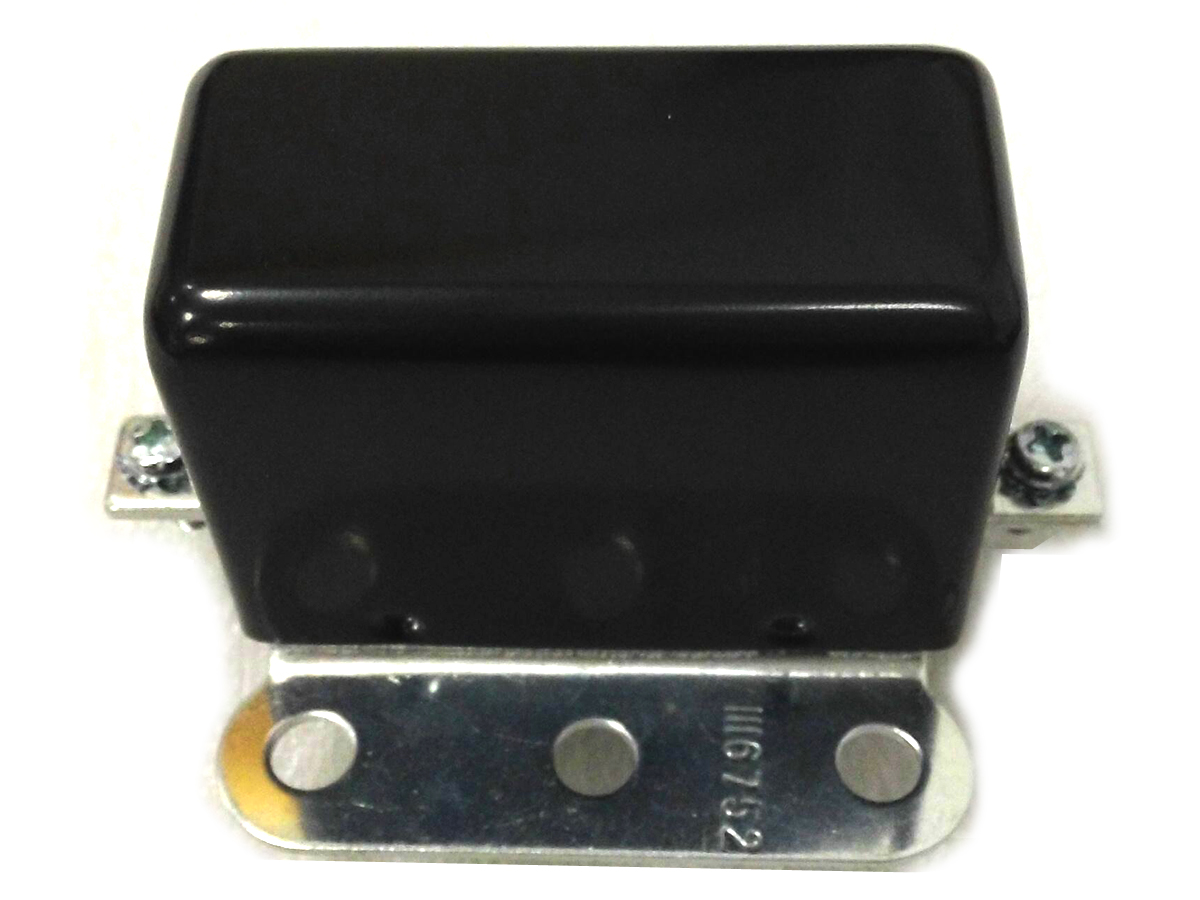 V-Twin 32-0267 - Black Look-A-Like 6 Volt 2-Brush Relay