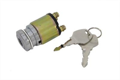 V-Twin 32-0416 - Chrome Ignition Key Switch