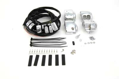V-Twin 32-0561 - Chrome Switch Housing Kit