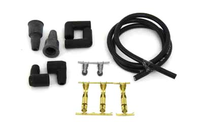 V-Twin 32-0588 - Black 8.5mm Spark Plug Wire Kit